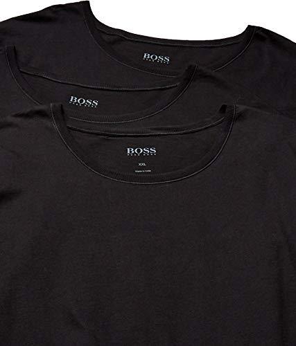 Hugo Boss Boss Men's T-Shirt RN 3p Us CO 10145963 01, Black, Large