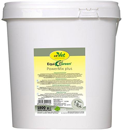 cdVet natuurproducten EquiGreen PowerMix plus 1,8 kg - paarden - ondersteunt de opbouw van de spieren - prestaties door voering - prestatieverbetering - stofwisselingen - sportlervoeding -