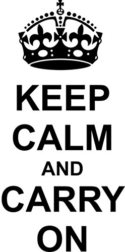 Intercoat Adhesivo Decorativo para Pared Vinilo Quote Keep Calm and Carry on Regalo 90X...
