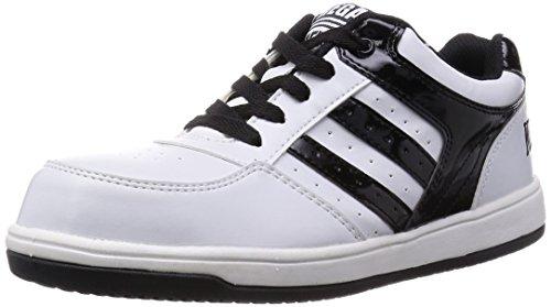[キタ] 安全靴 作業靴 メガセーフティ 軽量ローカットタイプ MK-7790 ホワイト/ブラック 25.5