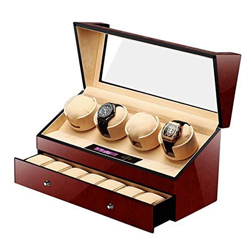 WXDP Enrollador de Reloj automático, Smart Touch Silencioso Motor silencioso 5 Modos de rotación Caja de exhibición de Almacenamiento de Caja para Relojes
