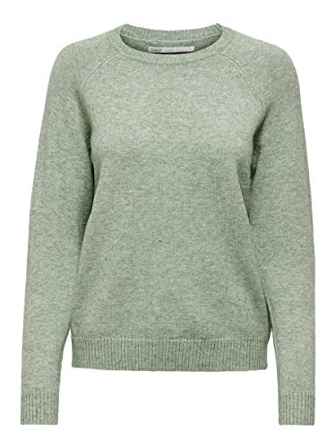 Only Onllesly Kings L/s Pullover Knt Noos suéter, Multicolor (BasilW Melange), Small para Mujer
