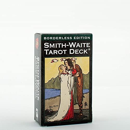 78 Hojas de Hojas Oracle Tarjetas Solitario, Principiantes Smith Waite Tarot Deck, Conjuntos de Tarjetas de Game Future Future Future Divination, Versión en inglés