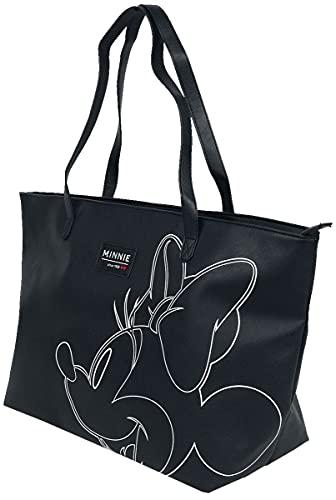 Micky Maus Minnie Maus Unisex Tragetasche schwarz/weiß 100% Polyester Disney, Fan-Merch, Filme