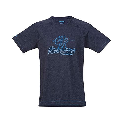 Bergans Tee Homme, Navy Melange/Light Winter Sky/Ocean Modèle 3XL 2020 T-Shirt Manches Courtes