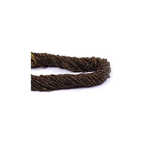 Neerupam Collection 2 mm Ojo de Gato Natural facetado rondelle Semi Preciosas Piedras Preciosas Perlas Sueltas para la elaboración de Joyas Pendiente de la Pulsera Collar, Lote de 1 hebras