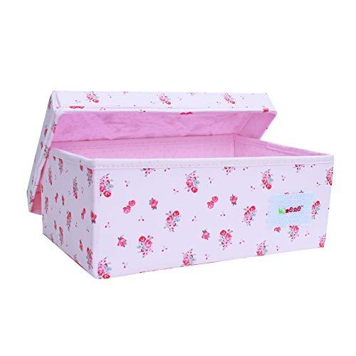 Minene kleine opslag organisator doos/roze bloemen
