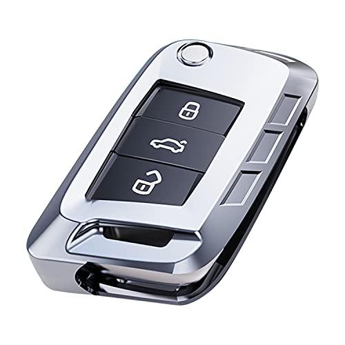 Autoschlüssel Hülle Kompatibel mit VW, VW Golf 7 Schlüsselbox, Hochwertige Verpackung aus Zinklegierung Schlüsselhülle Cover + Schlüsselbund