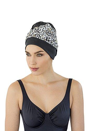 Fashy Fabric Swim Caps, Cuffia da Nuoto Esclusiva Donna, Nero Oro, Taglia Unica