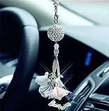 leoye Bola de cristal colgante de coche decoración de la suerte de seguridad colgante ornamento regalo espejo retrovisor accesorios auto interior colgante MirPendaye