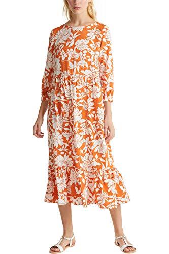 Esprit 030EE1E343 Kleid, Damen, Orange 38 EU