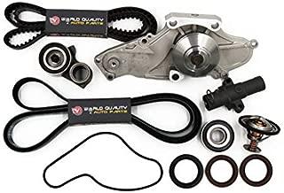 Timing Belt Water Pump Tensioner Thermostat Kits For 03-14 Acura Honda Saturn 3.2L 3.5L 3.7L V6 SOHC