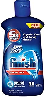 Finish Jet Dry Rinse Aid, Dishwasher Rinse Agent, 4.22 Ounce (Pack of 3)