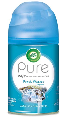 Air Wick Pure Freshmatic Refill Automatic Spray, Fresh Waters, 1ct, Air Freshener, Essential Oil, Odor Neutralization, Packaging May Vary
