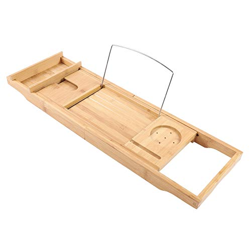 Wakects Extendable Bath Stand, Functional Telescopic Bath Stand, Suitable for Most Types of Bathtubs, Size: Approx. 75-110.8 x 22.5 x 21 cm