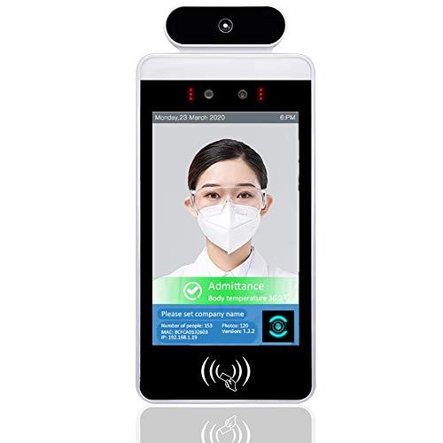ZXCASD 8 Pulgadas Sistema De Seguridad De La Cámara, Reconocimiento Facial Automático Dispositivo De Control De Acceso De Puerta Inteligente