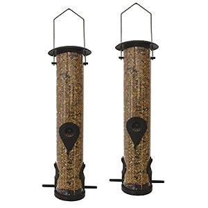 2 x 50160 Deluxe Heritage Wild Bird Hanging Large Seed Feeder Garden Feeders 13cm x 39cm