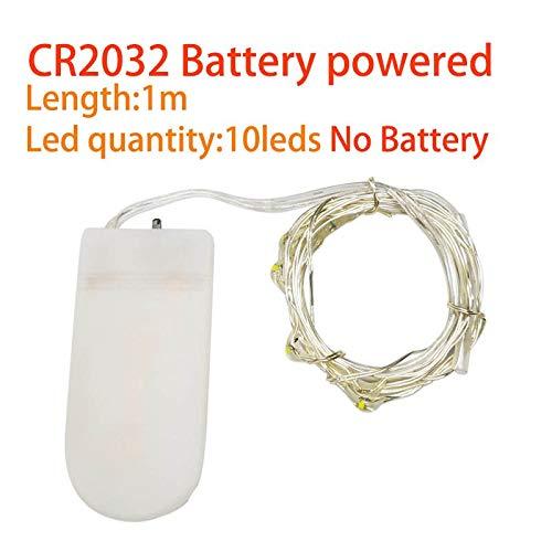 Led ストリングライト銀線 CR2032 バッテリー Usb 電源妖精ライト 1 メートル 2 メートル 3 メートル 5 メートル 10 M 10-100LEDChristmas 結婚式のパーティーの装飾