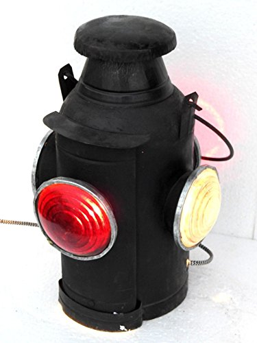 Triveni Art & Crafts Railroad Lantern Vintage Adlake Style Antique Switch 4 Way Signal Collectible Electric Lamp Indian Railway
