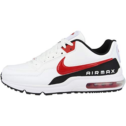 Nike Mens AIR MAX LTD 3 Sneaker, White/University Red-Black, 40 EU