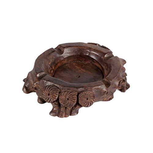 XUSHEN-HU Cenicero de madera duradera engrosamiento para el hogar y la oficina, decoración de escritorio para fumar en casa, oficina, decoración