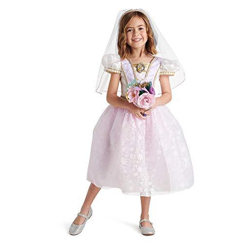 Disney Rapunzel Wedding Dress and Accessory Set for Girls, Size 5/6 White