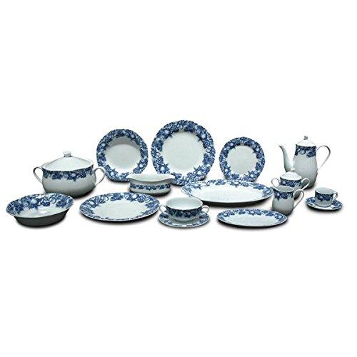 FranquiHOgar VAJILLA Modelo Eden 83 Piezas - Porcelana de Primera Calidad
