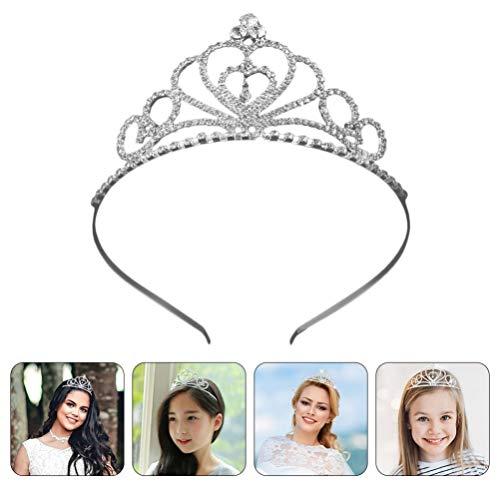 FRCOLOR Corona de Tiara de Cristal de Diamantes de Imitación Corona de...