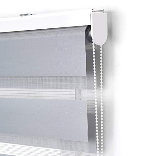 Estoralis Vera Estor Enrollable Doble Tejido, Noche y día, Gris, 105 x 175 cm