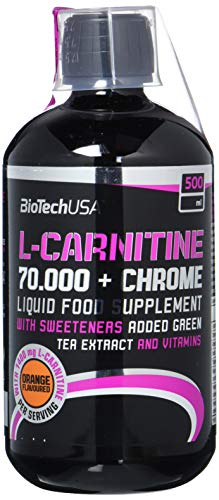 Biotech USA L-Carnitine 70.000 + Chrome 500 ml Carnitine - Orange
