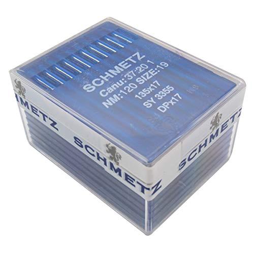 AGUJA SCHMETZ - 100 Schmetz 135 x 17 DPX17 sy3355 Industrial Agujas para máquina de coser (Schmetz DPX17 14/90)