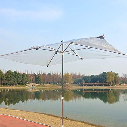 HH- Sombrillas Sombrilla de Jardín 2 × 2, Parasol Al Aire Libre Transparente Plegable para Sombrillas de Patio/Playa/Piscina con 8 Varillas Resistentes, Protector Solar UV50 +