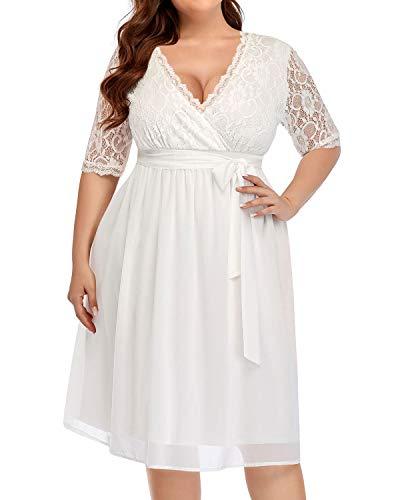 Asos Plus Size Lace Off the Shoulder Wedding Dress