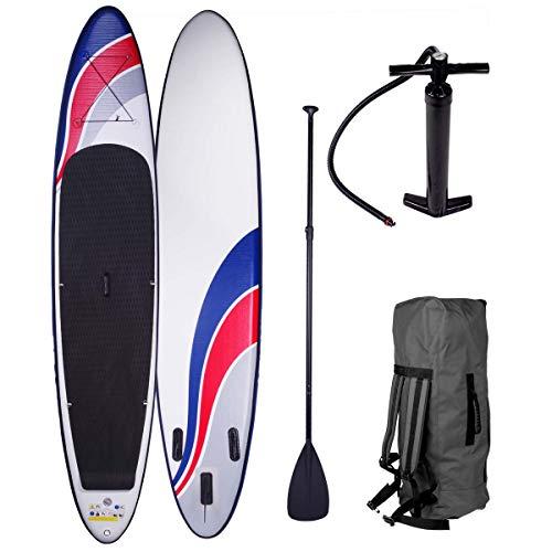 SUP Board Stand up Paddle Paddling Surfboard 3 Modelle 300-365cm aufblasbar Alu-Paddel Hochdruck-Pumpe Rucksack Kick-Pad bis 150KG gewebtes Drop Stitch Deluxe