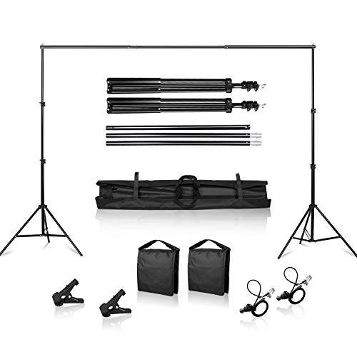SH Heavy Duty Background Stand, 2x2M Backdrop Support System Kit with Carry Bag for Photography Photo Video Studio,Photography Studio