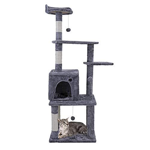 MYYXGS Giochi per Gatti Big Cat Tree Cat Scratch Board Cat Tree Tower, Struttura da Arrampicata per Gatti con Scheda da Arrampicata, Giocattolo Casa per Gatti Cat Kitten