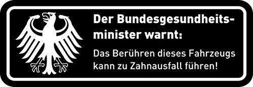 easydruck24de Fun-Aufkleber Warnung Zahnausfall I lustiger Spruch für Motorrad Mofa, als Auto-Aufkleber Fahrrad-Aufkleber I wetterfest (Schwarz - 8 x 2,5 cm)