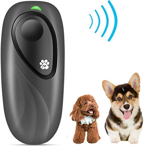 Humutan Anti Barking Device, Handheld Dog Repellent Portable Bark Deterrent with LED Indicator, Safety Stop Barking Tool with Adjustable Level for Indoor Outdoor