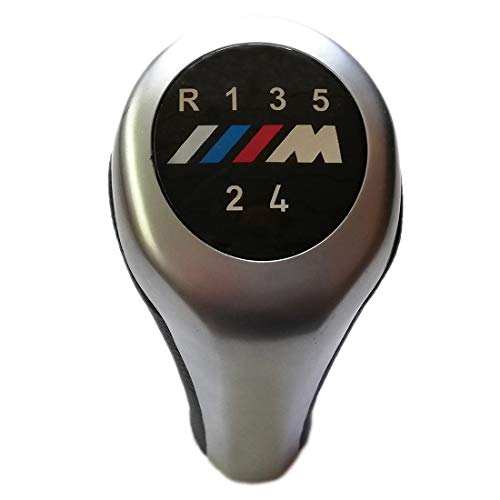 Cosmoparts Pomo Compatible con BMW Palanca Cambios 5 Velocidades M E36 E46 Gris Mate
