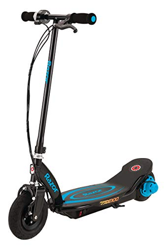 Razor Power Core E100 Electric Scooter - Black Deck - Blue