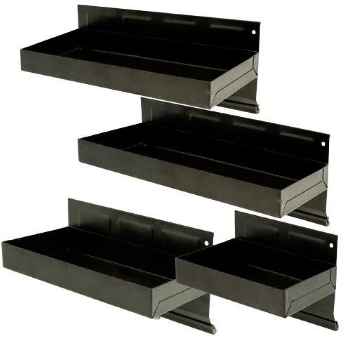 4 Pc. Magnetic Tool Storage Cabinet Tray Parts Shelf Set