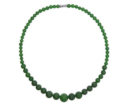 Vifaleno Collar de Piedras Preciosas Joyas, Jade, Natural, 6-14mm