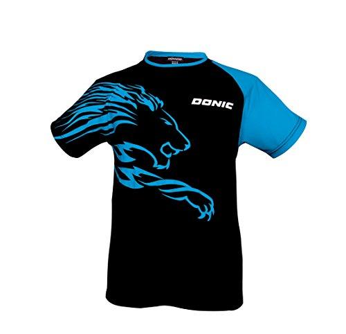 DONIC T-Shirt Lion, L, schwarz/Cyan