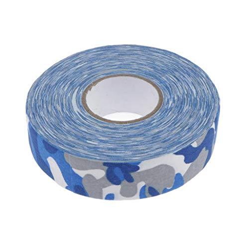 MagiDeal Selbstklebend Eishockey Tape Schlägertape Griffband aus Baumwolle - Blaue Tarnung