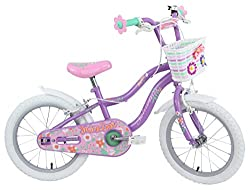 """Smart start geometry offers increased control and stability for young riders Wheel size: 16"""" Suitable for 4+ years Stand over height: 18"""" Safety reflectors & bell Chain guard & handlebar pad Includes: flower shape handlebar ends & BASKET Simple final..."""