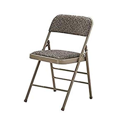 wuzhengzhijia Folding Chair, Metal Frame, Lightweight Desk Seat, Comfortable Computer Chair with Cushion, Easy to Carry and Store