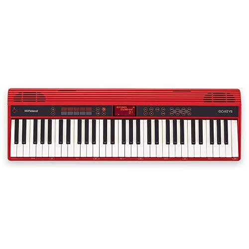 Roland GO-61K Tastatur - Music creation keyboard , rot, Spiele überall dank Batteriebetrieb und kabelloser Smartphone-Verbindung