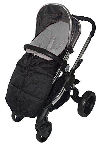 Deluxe voetenzak/COSY TOES compatibel met iCandy Peach kinderwagen grijs