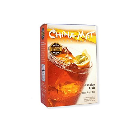 China Mist, Passion Fruit Black Tea Bags for Iced Tea, (6 Pack)