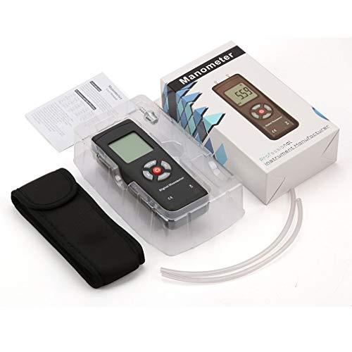 bansd Medidor de presión diferencial Tipo U portátil TL-100 Medidor de presión Digital Negro